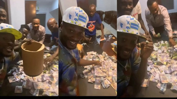 Asamoah Gyan Is Filthy Rich, displays plenty Money in His Susu Box after saving for 6 Months in new video