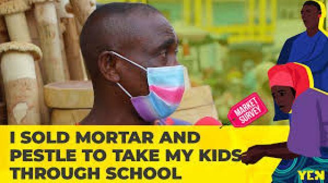 Meet Ghanaian JHS leaver who sold portar & pestle to send his kids to  university ▷ Ghana news   YEN.COM.GH