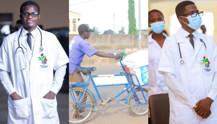 The touching story of a Street Yogurt seller now a student of Pentecost University pursuing a degree in nursing 4