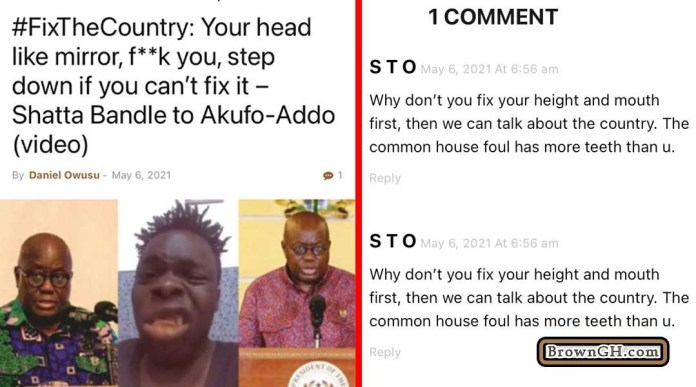 Ghanaians Descend On Shatta Bandle For Insulting Nana Addo 2