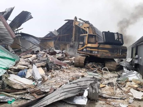 Hotels Demolished By Governor Wike