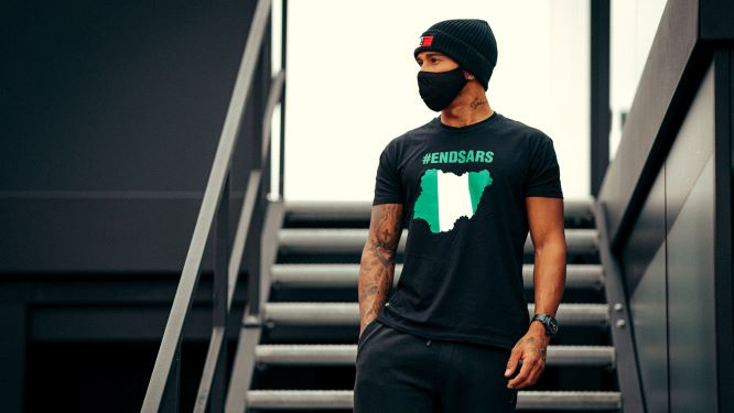 Lewis Hamilton lends his voice to End Sars Protests