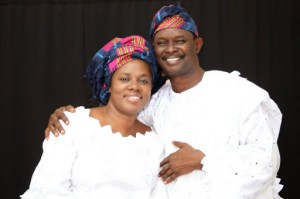 Mike Bamiloye and wife