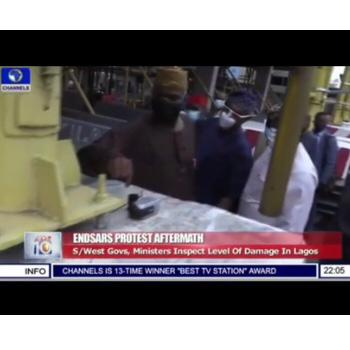 Awkward moment Fashola found a misery camera