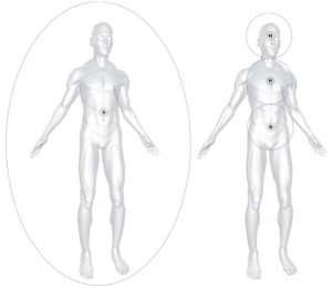 Figure 1: The Self and its Field of Awareness (Soul)    Figure 2: The Mind, Heart & Body Centres