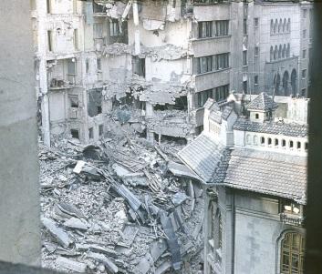 Картины разрушения Бухареста во время землетрясения 4 марта 1977 года
