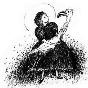 Кэролл – Алиса с фламинго под мышкой