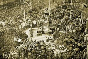 открытие памятника-фонтана, воздвигнутого в честь Александра Пушкина на Николаевском бульваре