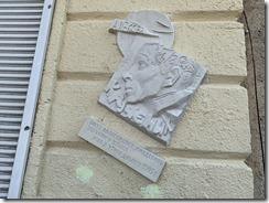 Мемориальная доска памяти Алексея Елисеевича Крученых