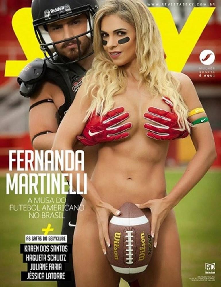 Sexy Fernanda Martinelli gostosa pelada muito safada nua para a Revista Sexy