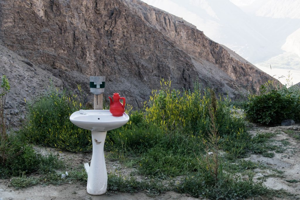 Bathroom with view Pamir