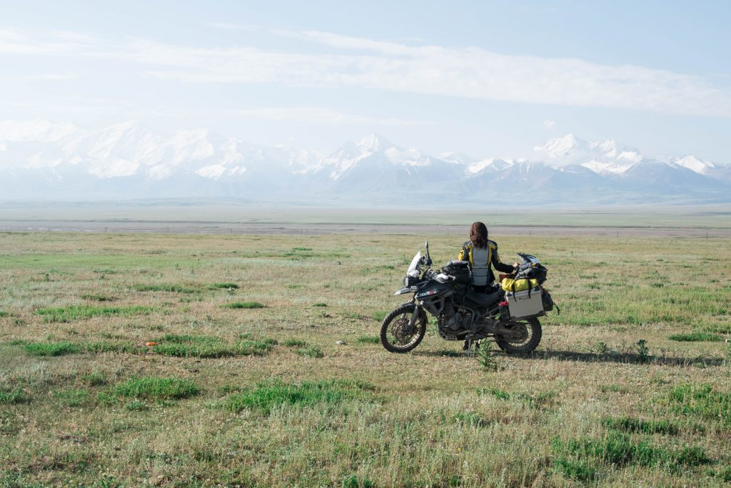 Time to say goodbye: View back on the Pamir mountain range.
