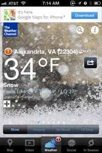 Weather Channel App (snow)