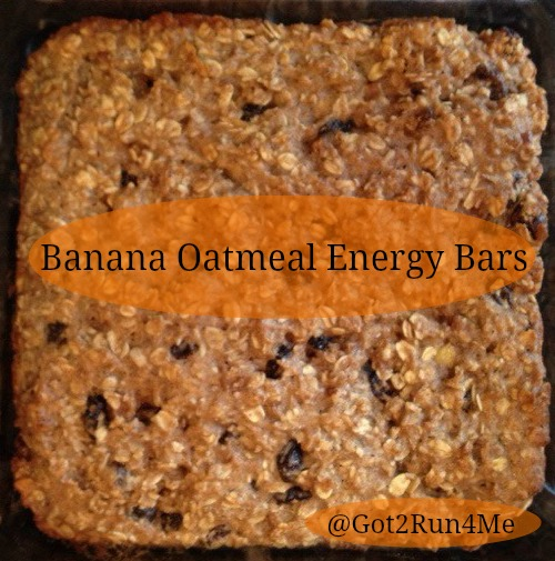 Runner's World Banana Oatmeal Energy Bars