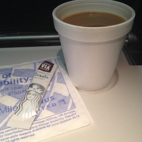 Airplane Coffee + Via