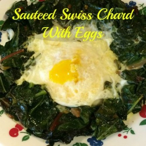 swiss chard with eggs