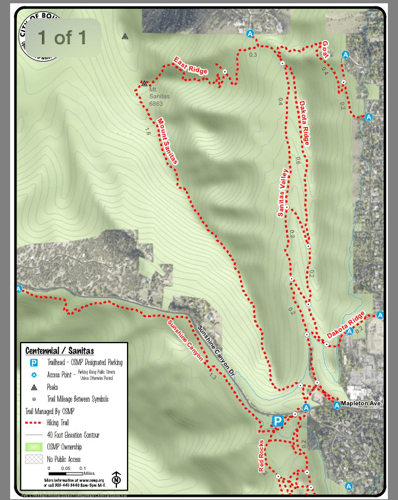 Mount Sanitas Map