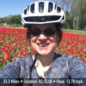 spring tulips bike ride