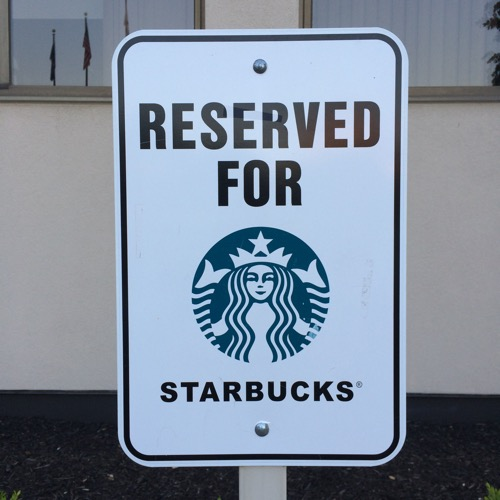 Starbucks Parking Sign