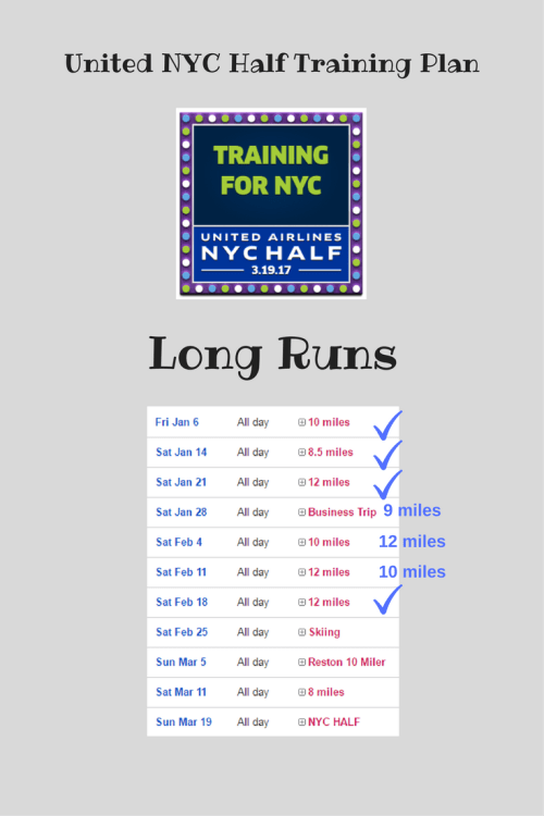 NYC Half Training Plan
