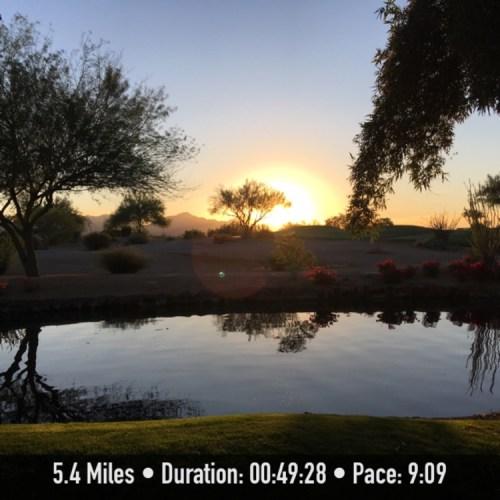 Sunrise Running In Phoenix