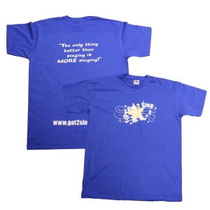 Got2Sing Tour Mens Unisex Royal Blue T-shirt