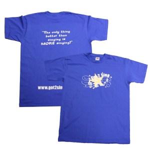 Got2Sing Tour Mens Unisex Royal Blue T-shirt