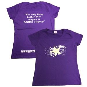 Got2Sing Tour Ladies Unisex Purple T-shirt