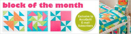 Accuquilt Block of the Month