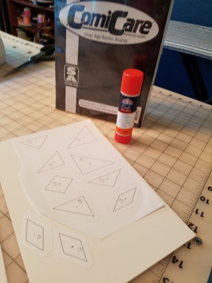 Quilt Templates using Glue Stick