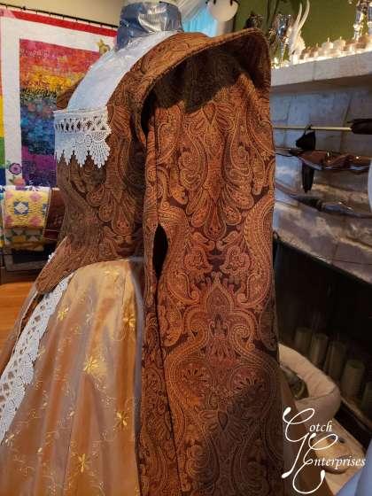 Drop sleeve detail for custom renaissance fair gown
