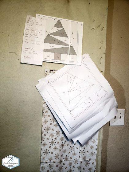 Santa Banner Paper Piece