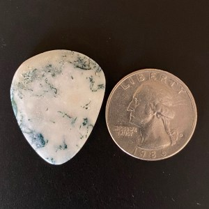 Green Tree Agate guitar pick
