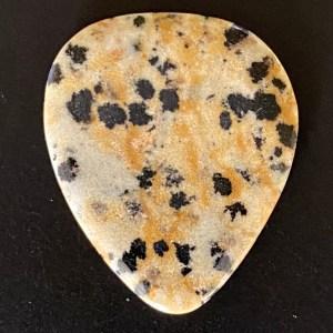 Dalmatian Jasper Guitar Pick
