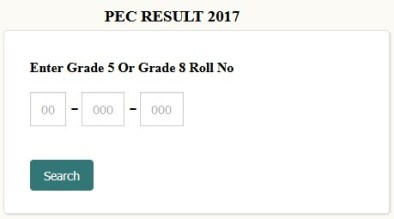 5th 8th Class Result Online PEC All Punjab