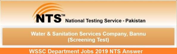 KPK WSSC Department Jobs 2021 NTS Answer Key Result Candidates List