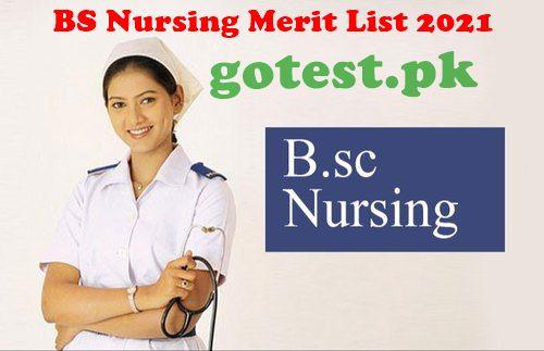 BS Nursing Merit List 2021 in Punjab DHQ Wise Check Online