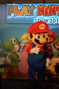 Nintendo's very own Mario at the Play Nintendo Lounge