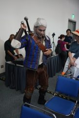Geralt from The Witcher series going solo.