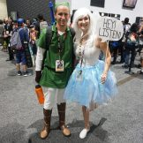 Link and Navi from The Legend of Zelda: Ocarina of Time.