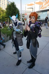 Snow Owl Ana and Moira from Overwatch.