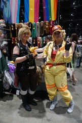 Prompto and Cindy from Final Fantasy XV.