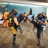 The Urban Ninjaz fighting in Mortal Kombat. Follow them on Instagram at Urban_Ninjaz.