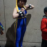 One more Street Fighter Alpha Chun-Li, this one in line to get the SDCC exclusive Golden Godess Chun-Li from Cryptozoic. True fan right here!
