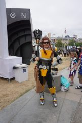 Another Brigitte from Overwatch, this time in her battle armor.
