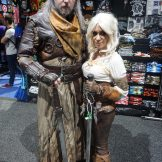 Alex (@sithinthenorth) as Geralt and Sam (@samskylerart) as Ciri from The Witcher III: Wild Hunt.