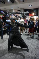Riku in his Organization XIII inspired attire from Kingdom Hearts II.
