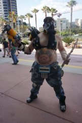 A fully equipped Roadhog from Overwatch.