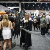 A very intimidating Sephiroth from Final Fantasy VII.