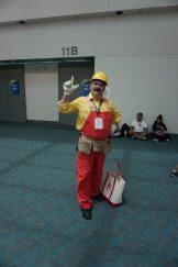 Mario in his Super Mario Maker attire.